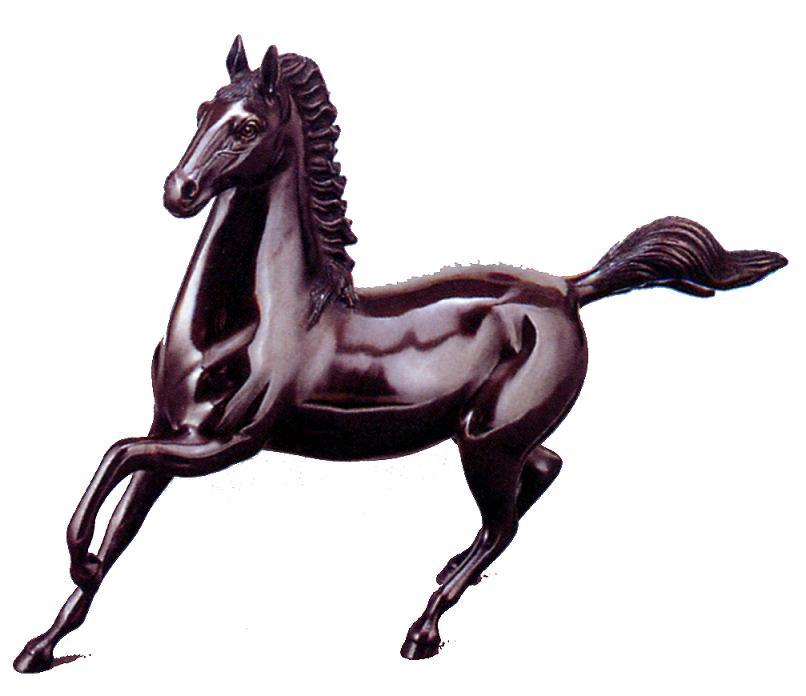 干支置物■午(馬・うま)■【 尺0 勇馬 】昇作 青銅(ブロンズ)製*紙箱付