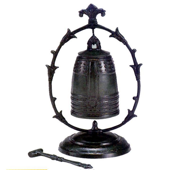 茶器・茶道具■ 飾り半鐘 大 ■青銅(ブロンズ)製【高岡銅器】