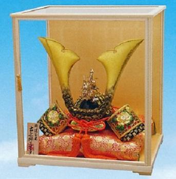 端午の節句 五月人形 兜■ 特選 玉竜獅子星兜 ケースセット■合金製 【高岡銅器】