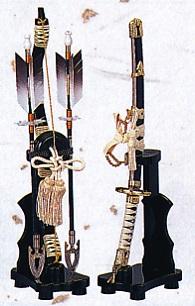 端午の節句 出世鋳造兜■ 瑞鳥弓太刀 (中) 13号■【高岡銅器】