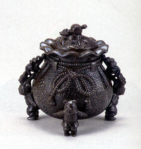 香炉・香立て■ 香炉 福袋(小槌蓋)■合金製 紙箱入り【高岡銅器】
