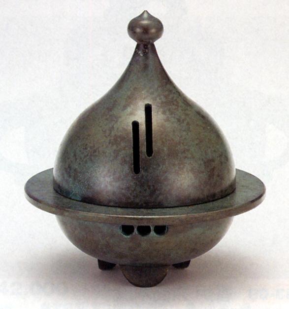 香炉・香立て■ 香炉 いのり ■青銅(ブロンズ)製 桐箱入り【高岡銅器】