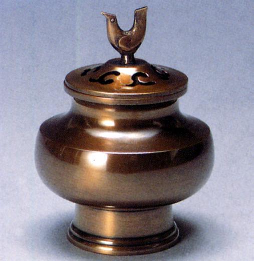 香炉・香立て■ 香炉 趣(おもむき) ■青銅(ブロンズ)製 桐箱入り【高岡銅器】
