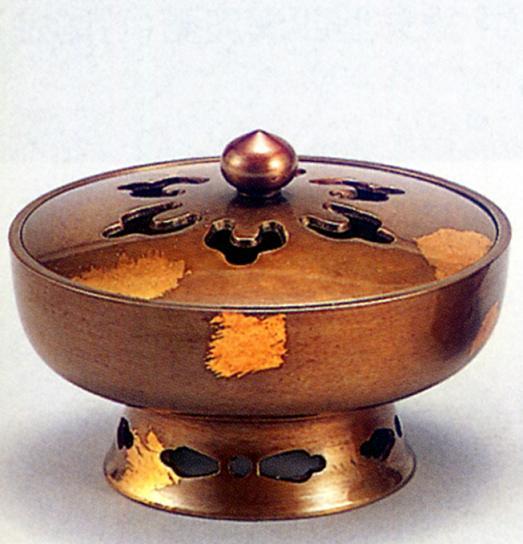 香炉・香立て■ 香炉 陽風 ■青銅(ブロンズ)製 桐箱入り【高岡銅器】