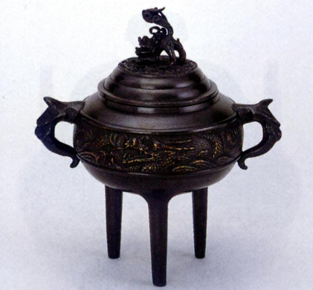 香炉・香立て■ 香炉 龍丸(小々) ■青銅(ブロンズ)製 桐箱入り【高岡銅器】