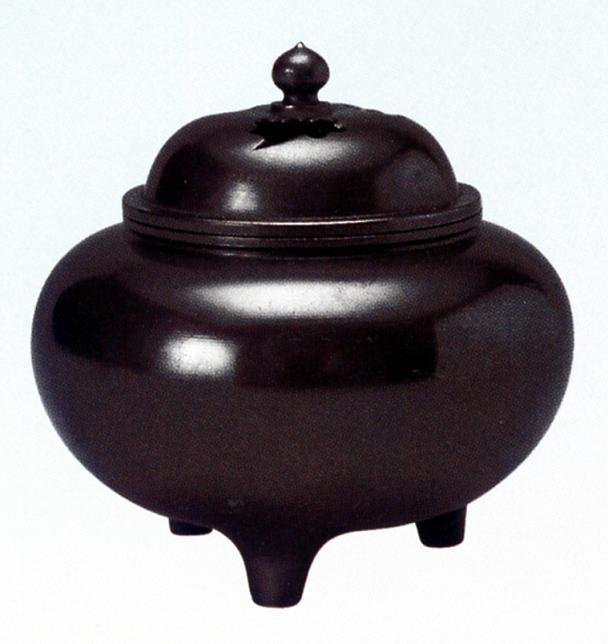 香炉・香立て■ 香炉 平型利休 ■黄銅(真鍮・しんちゅう)製 桐箱入【高岡銅器】