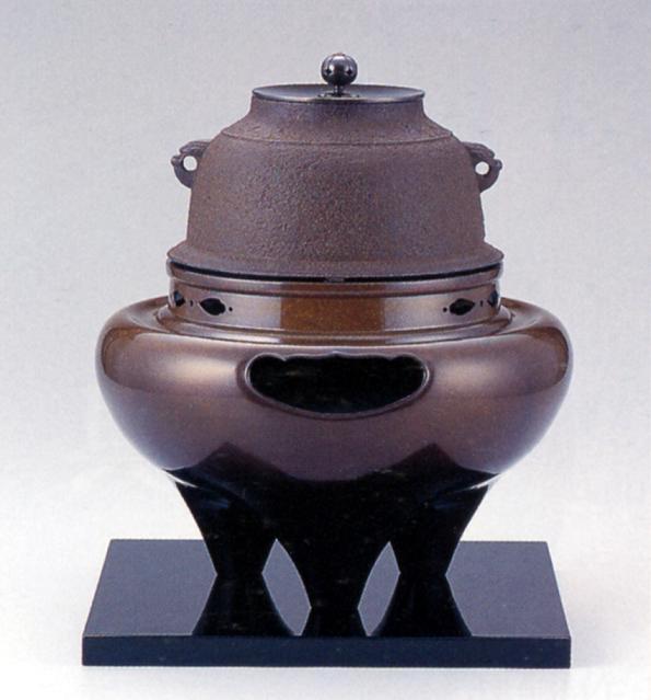 茶器・茶道具■ 朝鮮風炉セット ■菊地浄慶・鍋谷友賢作 銅・鉄製 紙箱入り【高岡銅器】