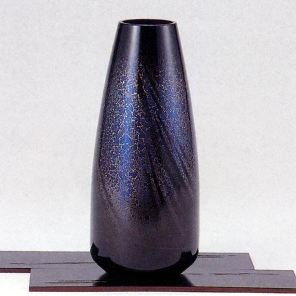 花器・花瓶■ 蓮寿型天目 ■敷板付 青銅(ブロンズ)製 紙箱入り【高岡銅器】