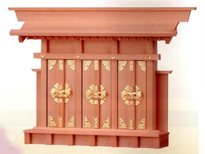 お宮 神棚 神殿■ 出三社 小 ■檜製神殿【日本製】