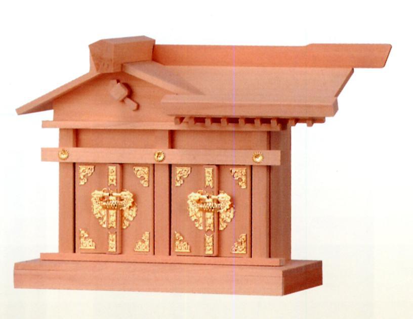 ■檜製神殿【日本製】 特大 神棚 二社大黒 神殿■ お宮