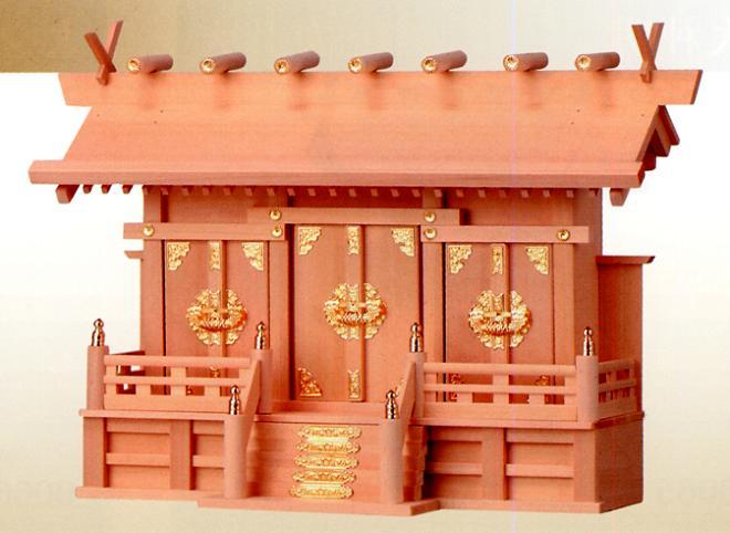お宮 神棚 神殿■ 檜製 通し屋根三社 大 ■檜製神殿【日本製】