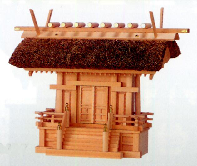 お宮 神棚 神殿■ 極上茅葺一社 唐戸 ■檜製【日本製】