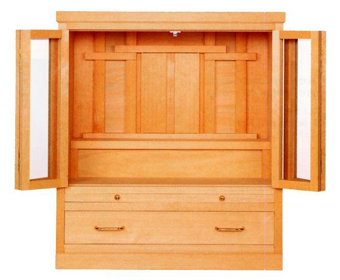 お宮 神棚 神殿■ 特上祭壇 小 ■白木材 霊舎【日本製】