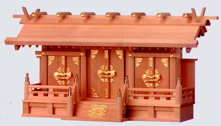 お宮 神棚 神殿■ 明治(扉金具) 大 ■特撰神殿【日本製】