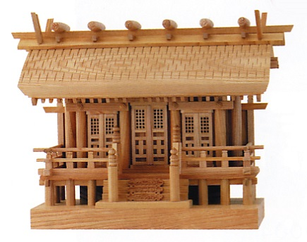お宮 神棚 神殿■欅彫屋根三社 格子戸■尾州檜【日本製】