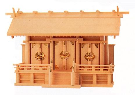 お宮 神棚 神殿■ 鳳凰 金具 大 ■尾州檜【日本製】