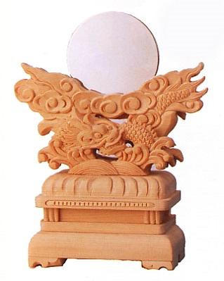 お宮 神棚 神殿■ 極上台付竜彫神鏡 2.5寸 ■神具 付属品