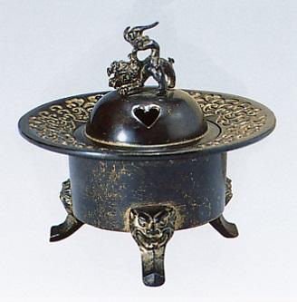 香炉・香立て■ 香炉 御殿型 ■青銅(ブロンズ)製 桐箱入り【高岡銅器】