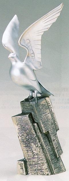 縁起物 吉祥■ 平和の鳩 ■青銅(ブロンズ)製【高岡銅器】