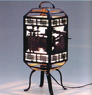 室内置行灯■ 行灯 五十三次 ■電装付 青銅(ブロンズ)製 紙箱入り【高岡銅器】