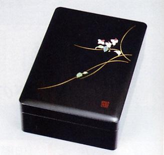 文具 置物■ 文庫 山の音 ■木製 螺鈿(らでん)紙箱入【高岡漆器】