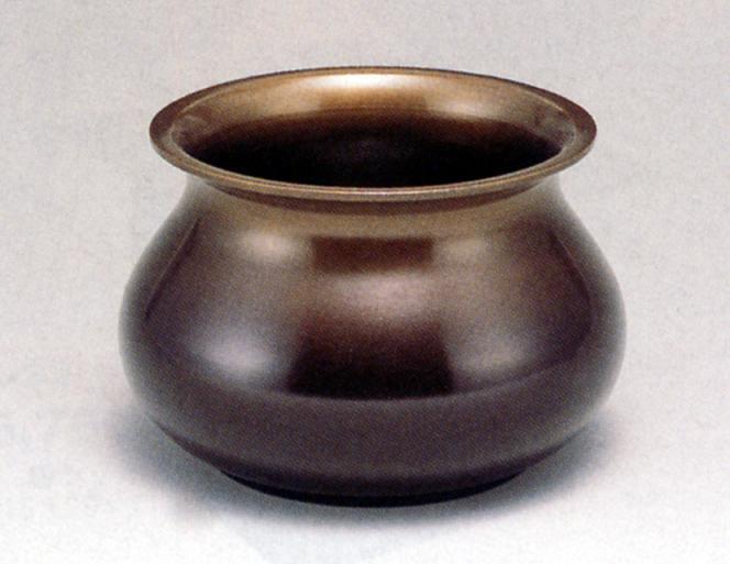 茶器・茶道具■ 建水 茶巾型 中 ■青銅(ブロンズ)製 紙箱入【高岡銅器】