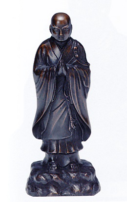 仏像■ 日蓮上人像 ■青銅(ブロンズ)製 紙箱入り【高岡銅器】