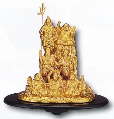 仏像 七福神■ 夢七福神 金色■合金製 紙箱入【高岡銅器】