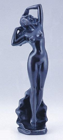 置物 銅像■ この葉の裸婦像 ■砂原放光作 鋳銅製 紙箱入り【高岡銅器】
