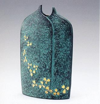 花器・花瓶■ 花 大 ■村田宏作 銅製 桐箱入り【高岡銅器】