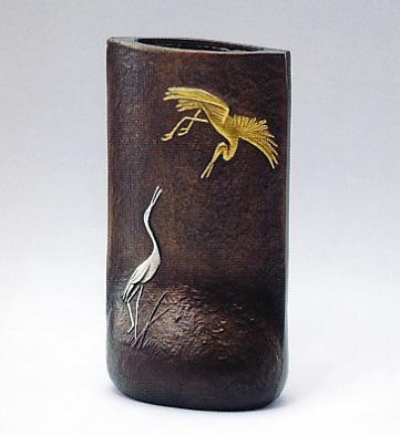 花器・花瓶■ 祝 ■銅製 桐箱入り【高岡銅器】