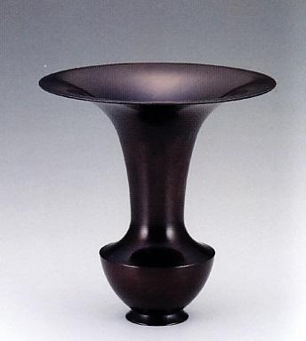 花器・花瓶■ 花器 潤 ■銅製 紙箱入り【高岡銅器】