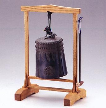 茶器・茶道具■ 唐物写喚鐘 ■龍泉堂宗光作 銅製(並枠:たも) 桐箱入り【高岡銅器】