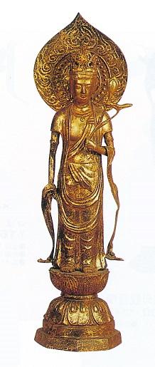 仏像■ 2尺5寸 聖観音菩薩像 ■青銅(ブロンズ)製【高岡銅器】
