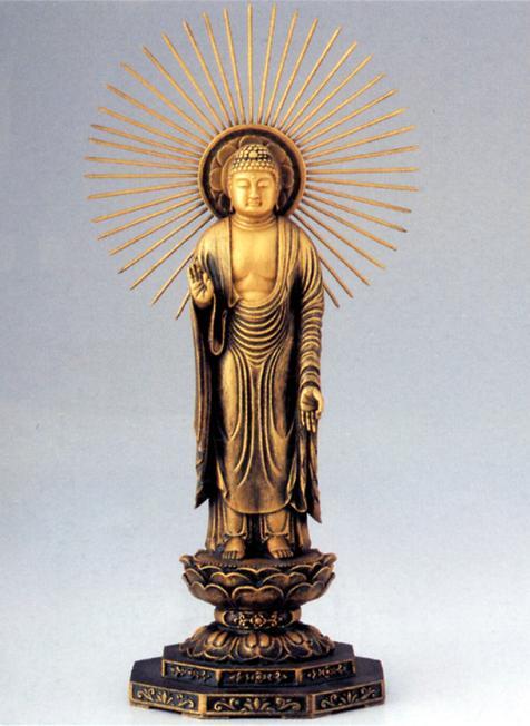 桐箱入り【高岡銅器】 (東) ■舟谷喜雲作■青銅(ブロンズ)製 仏像■ 阿弥陀如来