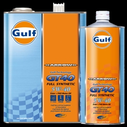 【格安!】 ガルフ (Gulf) エンジンオイル アロー GT40 5W-40 4L X 3本セット 合成