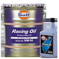 【格安!】 ガルフ (Gulf) エンジンオイル RACING OIL 15W-50 1L X 6本セット 100%合成