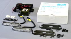 【VELIAS】市光工業 LEDデイタイムランプ タイプ5Xキット ブルー 24V