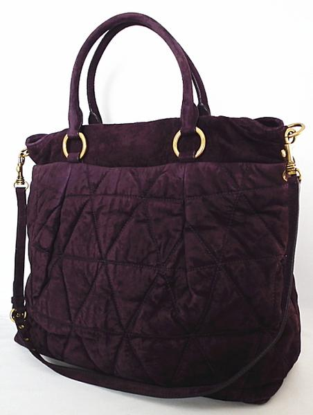1a401741add4 Price Miu Miu 2WAY shoulder bag large quilted tote bag suede MIUMIU rare  rare