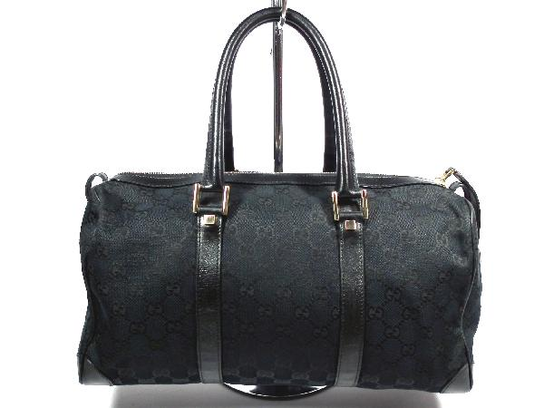 23625be2508 Price Gucci GG canvas Boston bag GG pattern black black shoulder bag GUCCI  zipper handbag