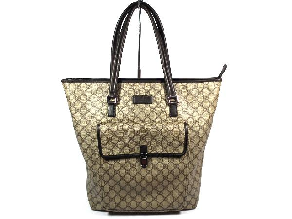 c740ea3c09b Gucci GG plus large GG vinyl coated tote bag men s shoulder bag with zipper  GUCCI