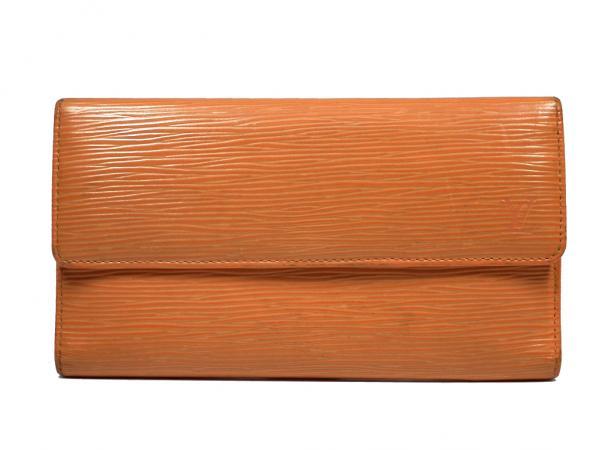 ルイヴィトン エピ 三つ折り 長財布 M6359H マンダリン オレンジ 長サイフ  LV  LOUIS VUITTON  ルイ・ビトン ルイ・ヴィトン ルイビトン 【中古】