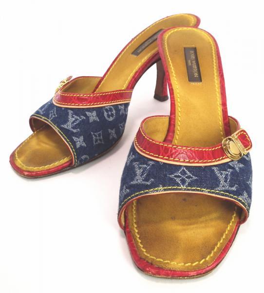 e269156d3a22 Louis Vuitton mules Monogram Denim 36 1 2 23.5 cm sandal LV Vuitton LOUIS  VUITTON Louis Vuitton Louis Vuitton Louis Vuitton