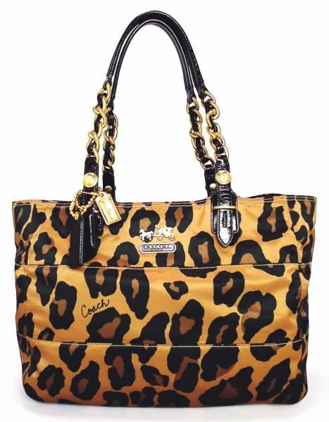 260048d8a Coach 15554 Madison Ocelot Leopard Leopard print COACH Leopard women's tote  bag ...