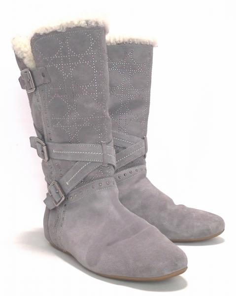 Christian Dior boots studded with carnage Mouton   38 grey grey women s  leather knee high boots for women C.Dior christian Dior 11714587c6
