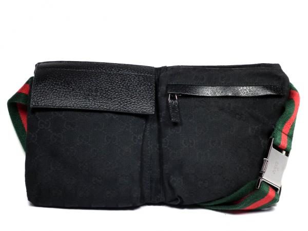 Gucci waist bag belt bag 28566 Sherry black Shoulder bag unisex GUCCI hip  bag waist pouch GG canvas black mens ladies