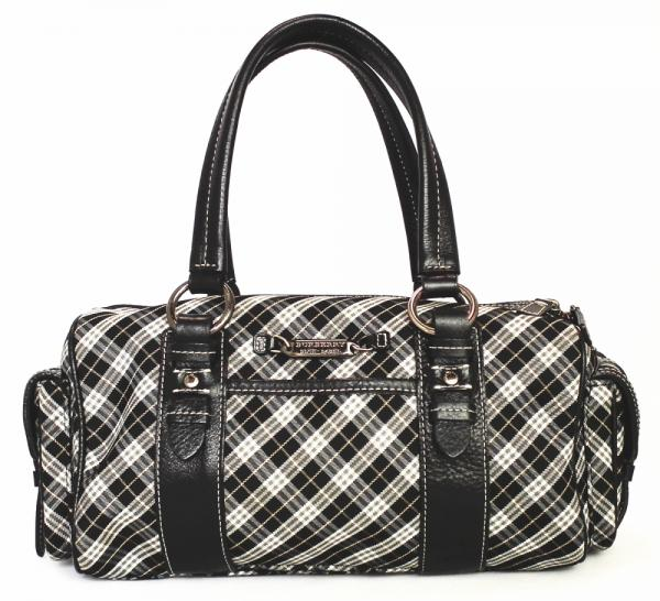Burberry Blue label bag shoulder bag handbag clean it Womens BURBERRY black  black check 4fef17e90bd35