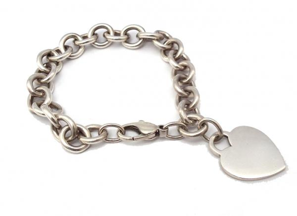 8045bd569 Tiffany silver bracelet heart tag bless SV925 Silver 925 Accessories TIFFANY  ...