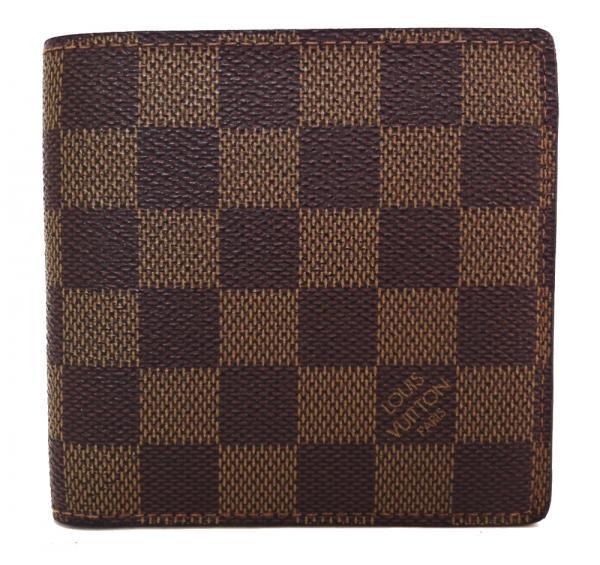 8b655b7dc891 ルイヴィトン財布ダミエマルコN61675二つ折り財布メンズ紳士用ポルトフォイユ・マルココイン