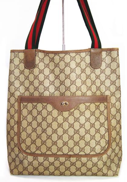 7fc7ba3a7e2c58 Gucci tote bag old Gucci GG plus beige GG Sherry antique GUCCI shoulder bag  women's ...